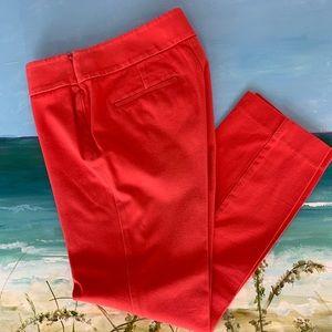 LOFT Women's  Marisa Coral Crop Pants Size 2